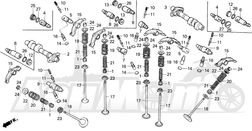 Запчасти для Мотоцикла Honda 1996 VT1100C2 Раздел: CAMSHAFT   распредвал