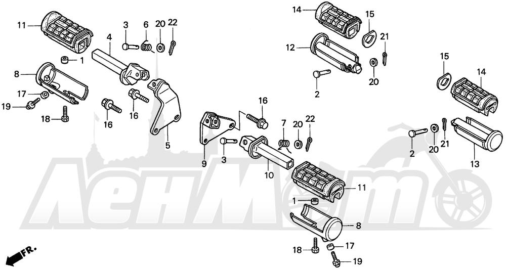 Запчасти для Мотоцикла Honda 1996 VT1100C2 Раздел: VT1100C2 STEP | VT1100C2 подножка