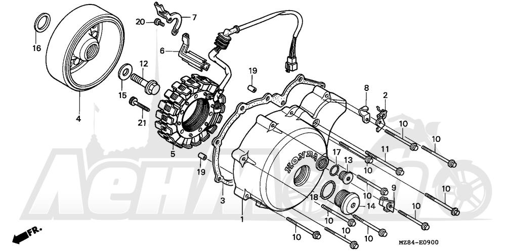 Запчасти для Мотоцикла Honda 1996 VT600C Раздел: ALTERNATOR | генератор