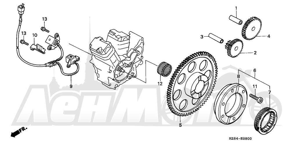 Запчасти для Мотоцикла Honda 1996 VT600C Раздел: PULSE GENERATOR   PULSE генератор
