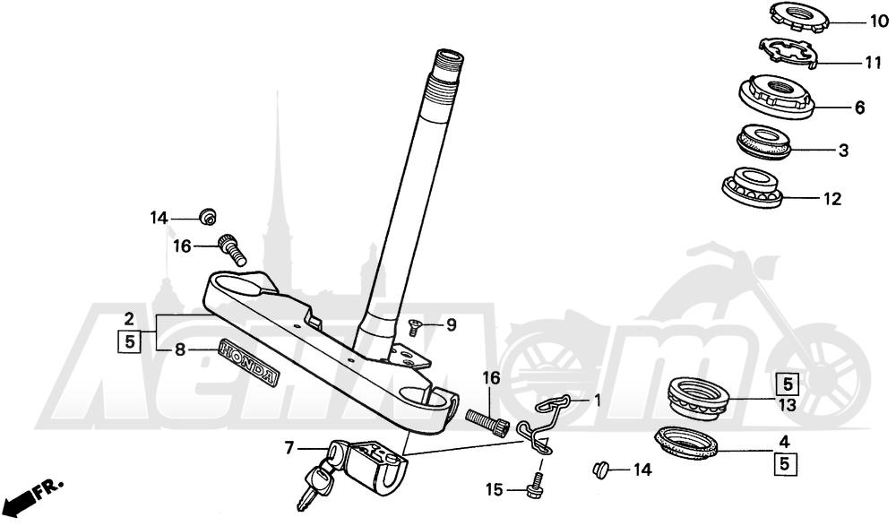 Запчасти для Мотоцикла Honda 1996 VT600C Раздел: STEERING STEM | рулевое управление стойка