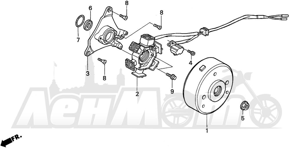 Запчасти для Мотоцикла Honda 1996 XR100R Раздел: ALTERNATOR | генератор