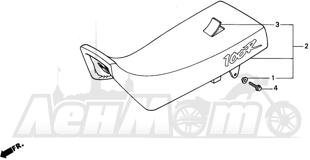 Запчасти для Мотоцикла Honda 1996 XR100R Раздел: SEAT | сиденье