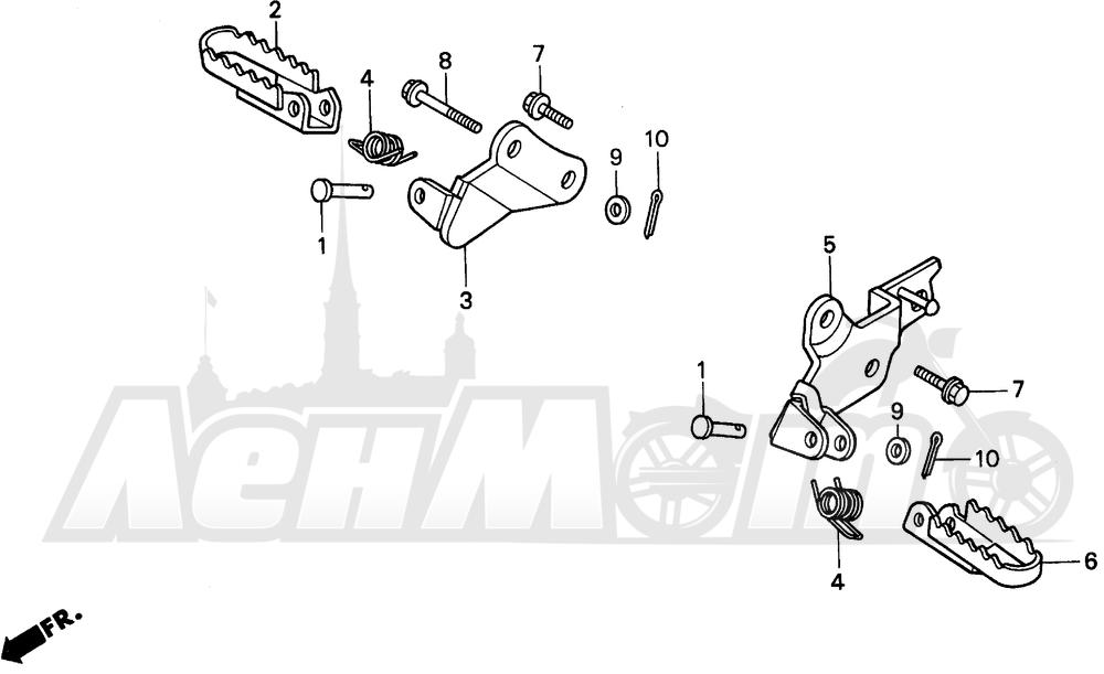 Запчасти для Мотоцикла Honda 1996 XR100R Раздел: STEP | подножка