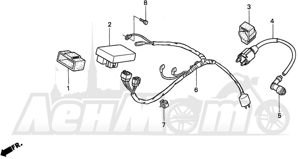 Запчасти для Мотоцикла Honda 1996 XR100R Раздел: WIRE HARNESS | жгут проводов