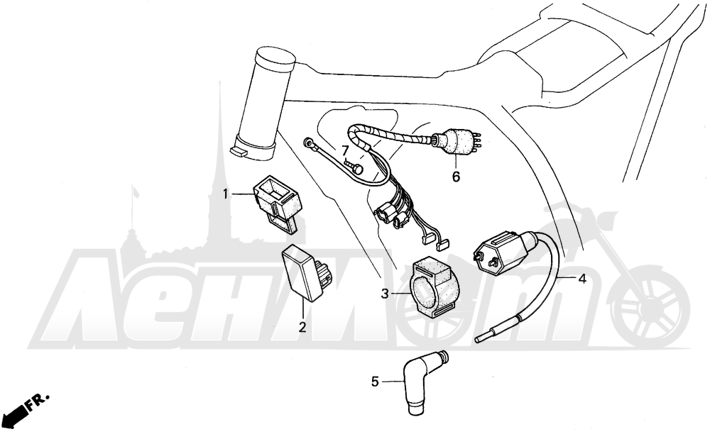 Запчасти для Мотоцикла Honda 1996 XR200R Раздел: WIRE HARNESS | жгут проводов