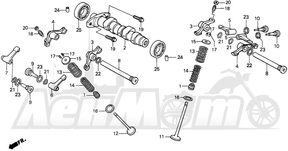Запчасти для Мотоцикла Honda 1996 XR250L Раздел: CAMSHAFT   распредвал