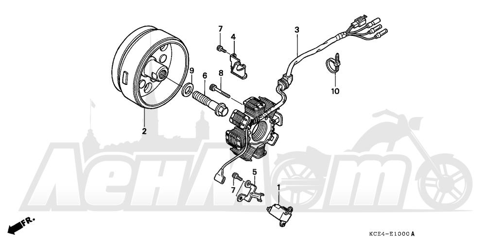 Запчасти для Мотоцикла Honda 1996 XR250R Раздел: ALTERNATOR   генератор