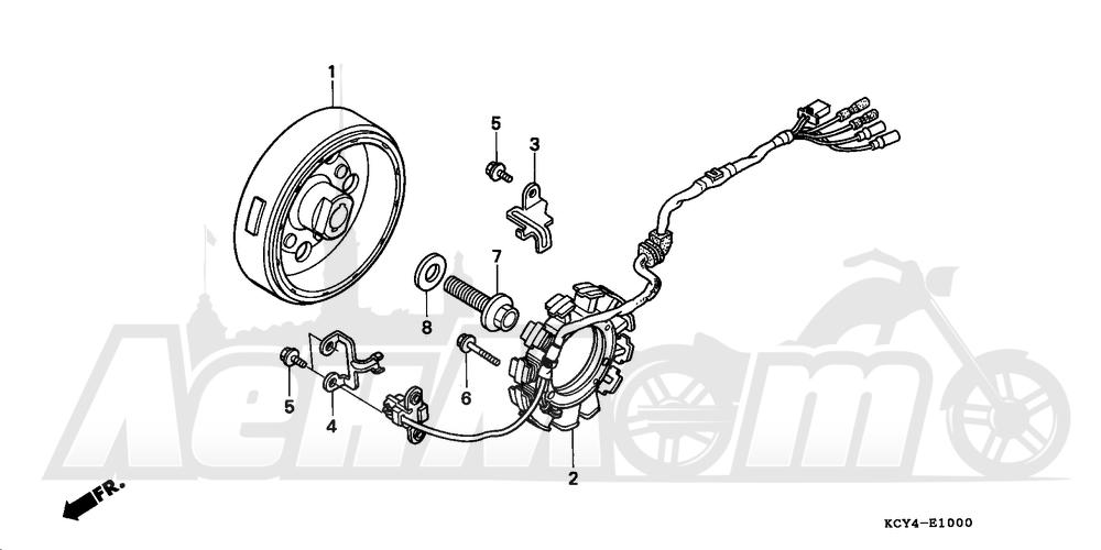 Запчасти для Мотоцикла Honda 1996 XR400R Раздел: ALTERNATOR | генератор