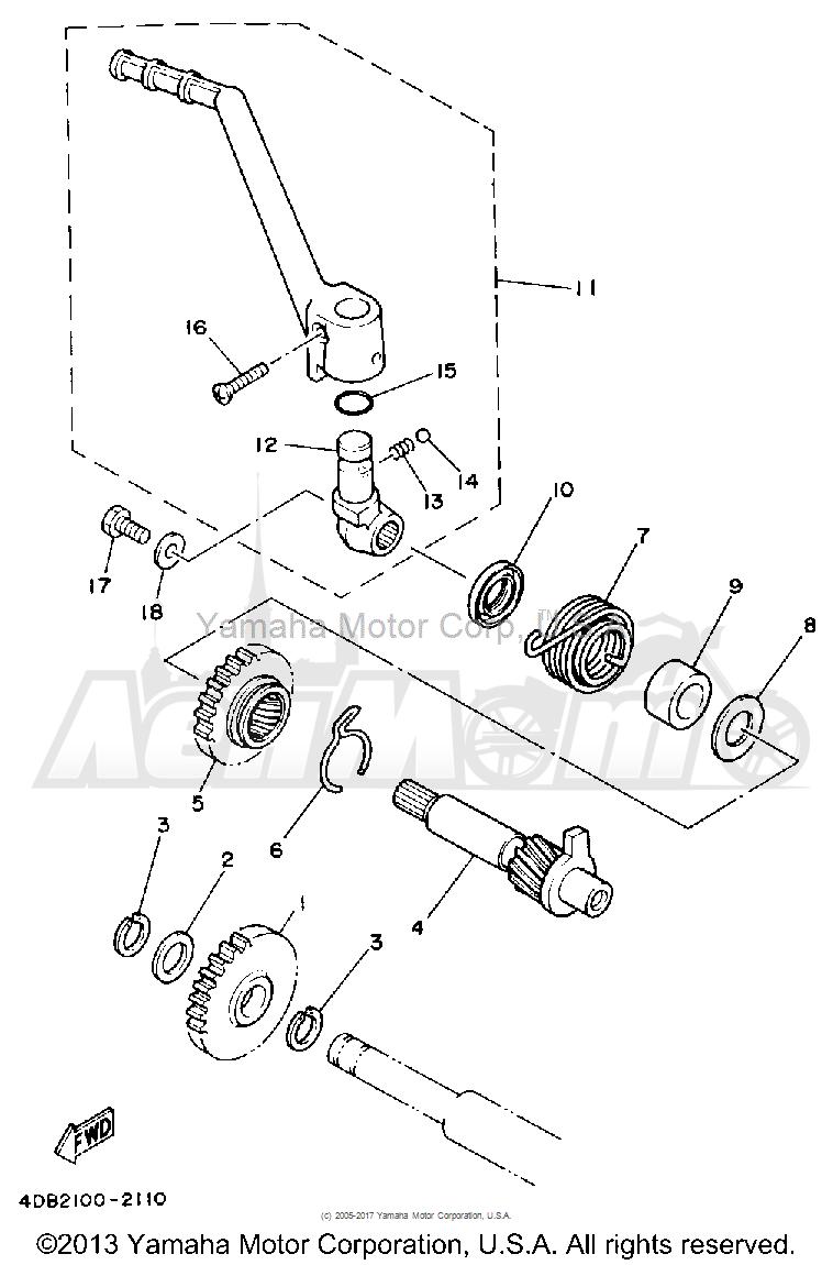 Запчасти для Мотоцикла Yamaha 1992 YZ125D1 Раздел: STARTER   стартер