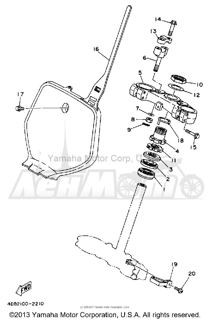 Запчасти для Мотоцикла Yamaha 1992 YZ125D1 Раздел: STEERING | рулевое управление