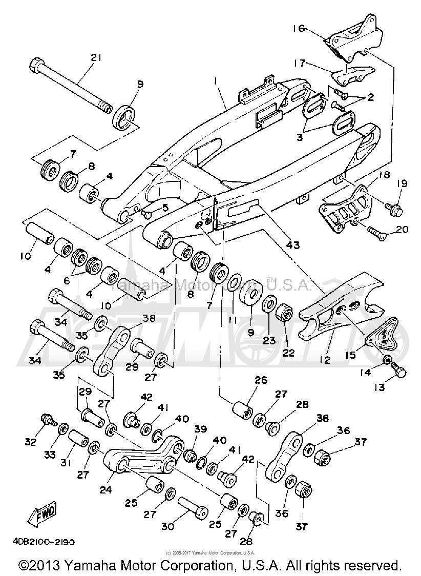 Запчасти для Мотоцикла Yamaha 1992 YZ250D1 Раздел: SWING ARM | маятник