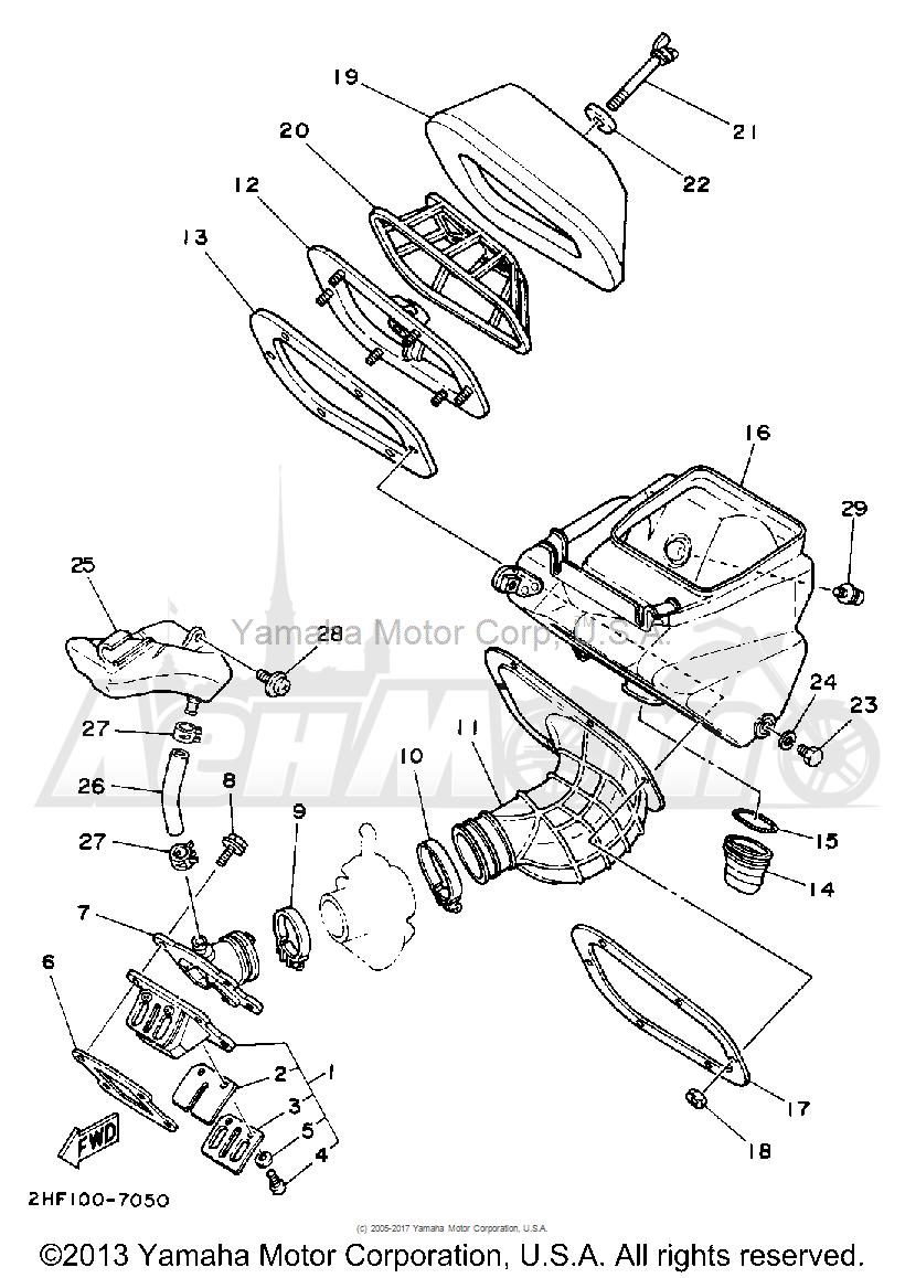 Запчасти для Мотоцикла Yamaha 1992 YZ80D Раздел: AIR FILTER | воздушный фильтр