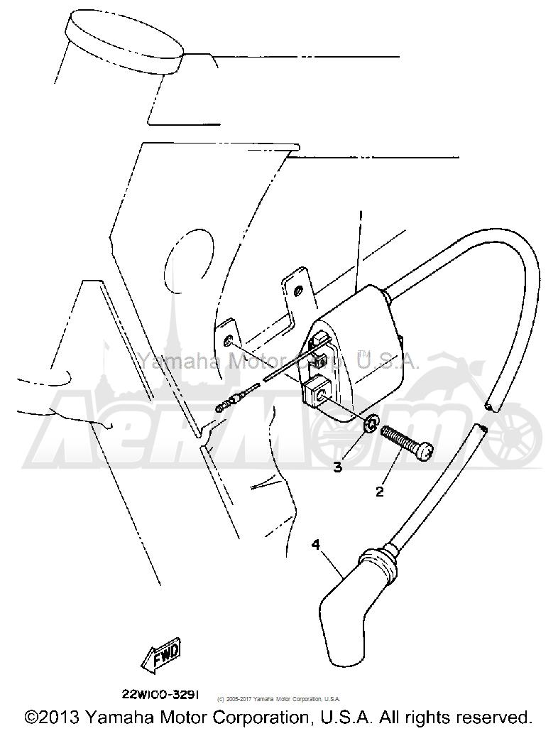 Запчасти для Мотоцикла Yamaha 1992 YZ80D Раздел: ELECTRICAL 1   электрика 1
