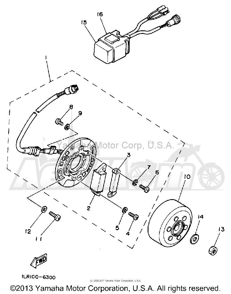 Запчасти для Мотоцикла Yamaha 1992 YZ80D Раздел: GENERATOR | генератор