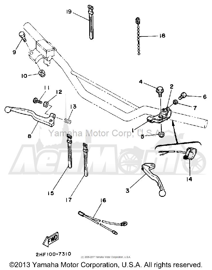 Запчасти для Мотоцикла Yamaha 1992 YZ80D Раздел: HANDLE SWITCH - LEVER | ручной переключатель рычаг