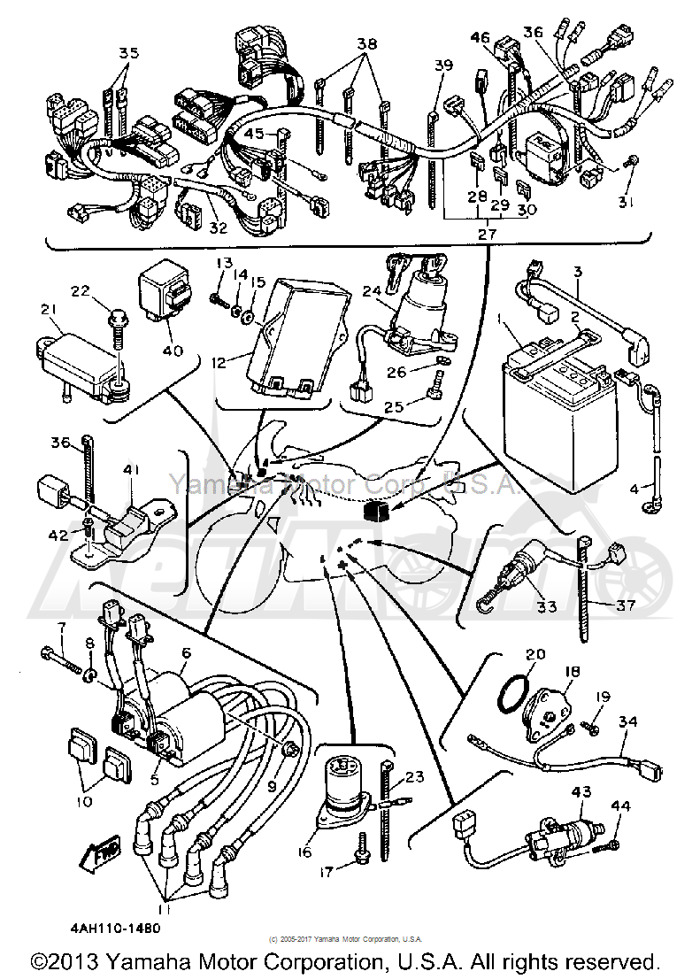 Запчасти для Мотоцикла Yamaha 1991 FJ1200B Раздел: ELECTRICAL 2   электрика 2