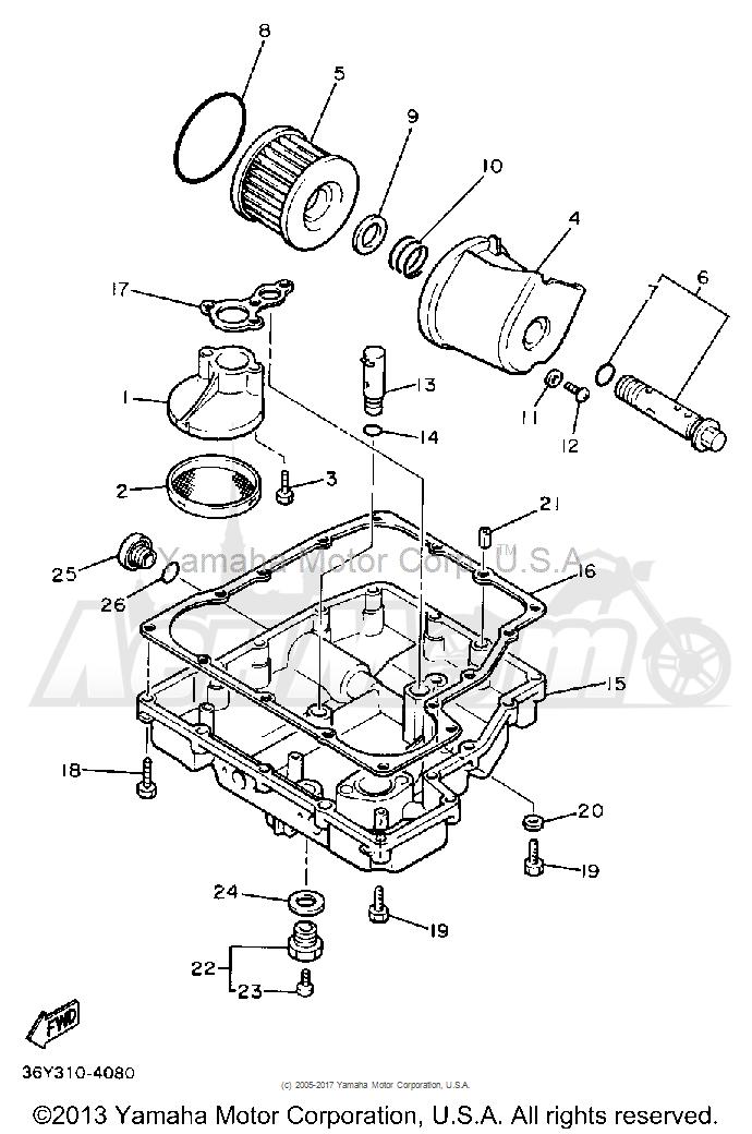 Запчасти для Мотоцикла Yamaha 1991 FJ1200B Раздел: OIL FILTER   масляный фильтр