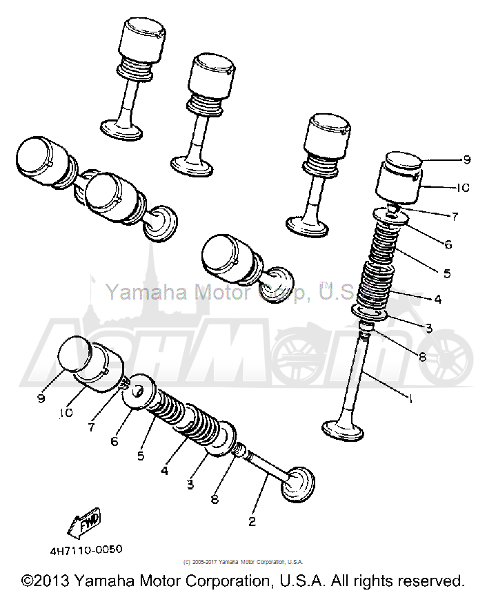 Запчасти для Мотоцикла Yamaha 1991 FJ1200B Раздел: VALVE | клапан