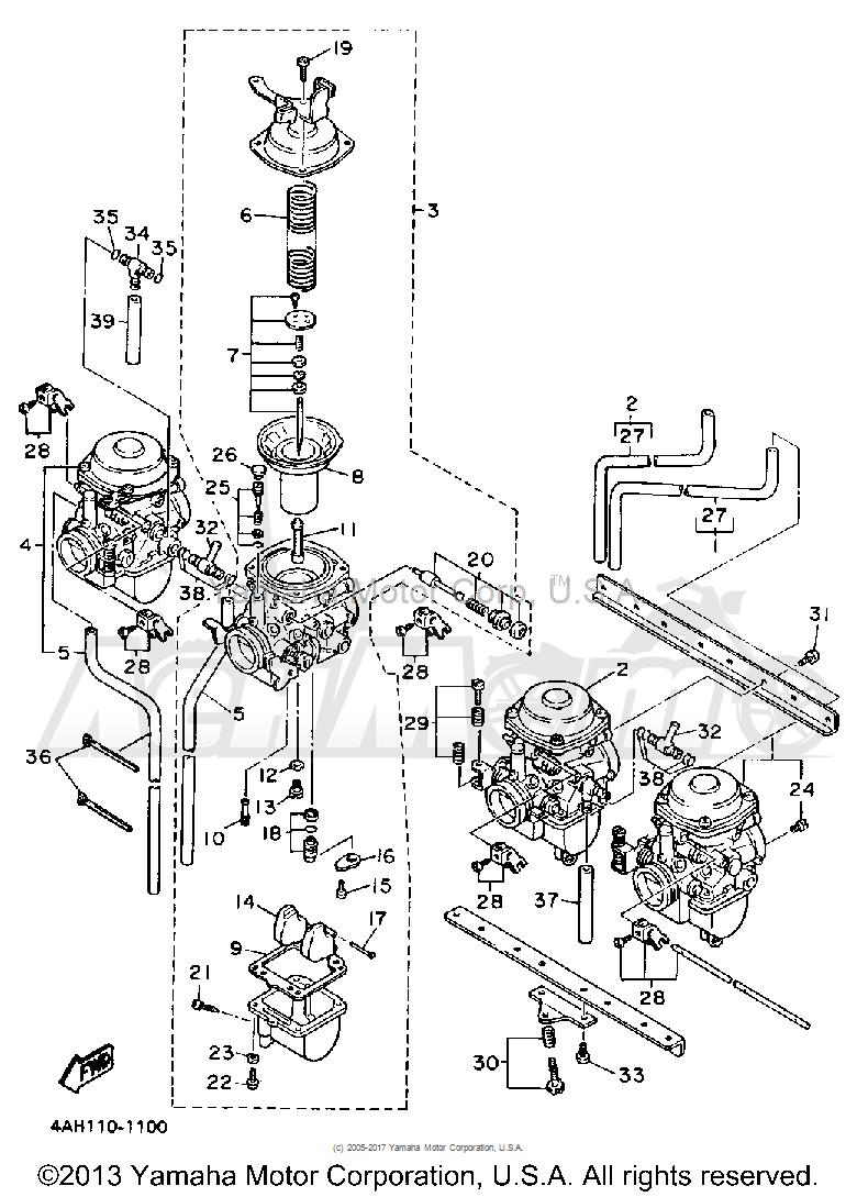 Запчасти для Мотоцикла Yamaha 1991 FJ1200BC Раздел: CARBURETOR | карбюратор