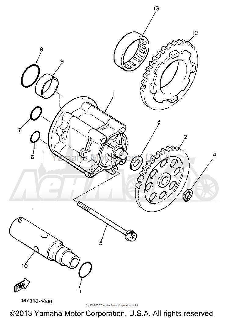Запчасти для Мотоцикла Yamaha 1991 FJ1200BC Раздел: OIL PUMP | маслянный насос