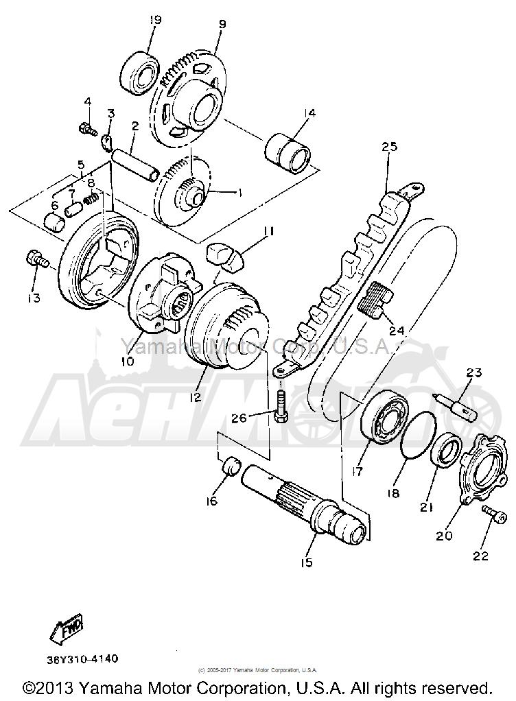 Запчасти для Мотоцикла Yamaha 1991 FJ1200BC Раздел: STARTER   стартер