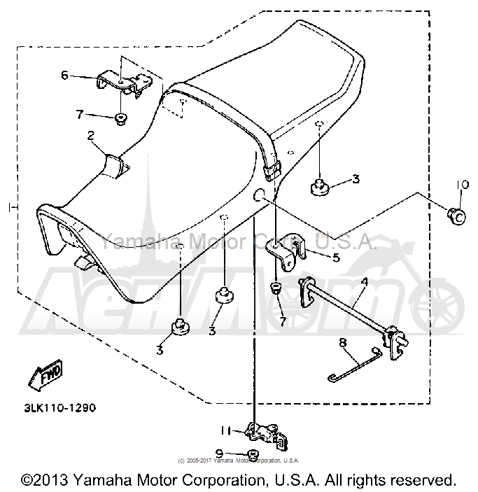 Запчасти для Мотоцикла Yamaha 1991 FZR1000BC Раздел: SEAT   сиденье