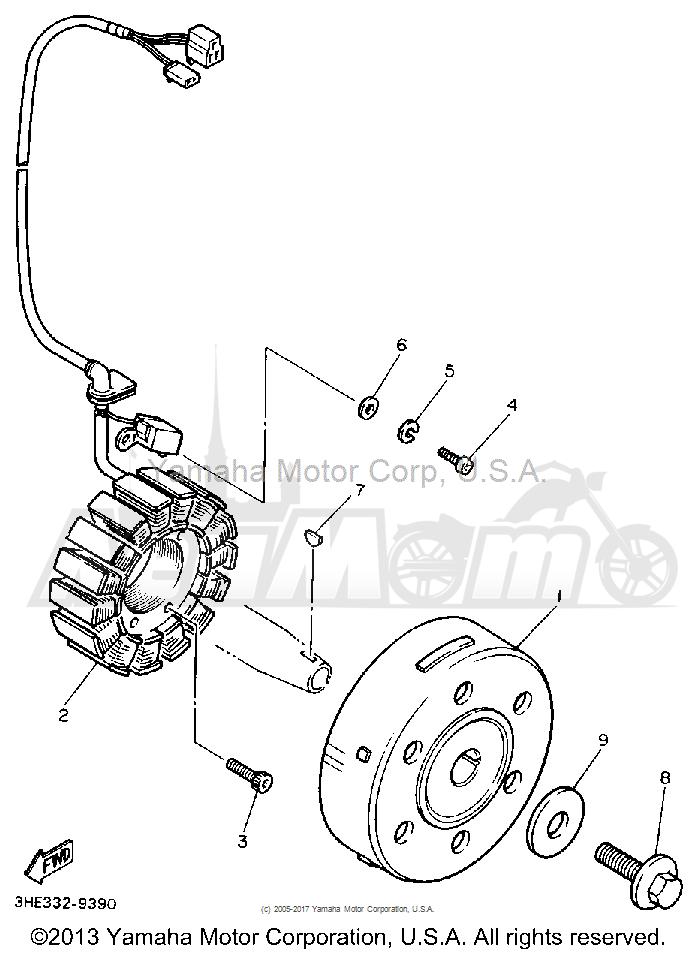 Запчасти для Мотоцикла Yamaha 1991 FZR600RB Раздел: GENERATOR | генератор