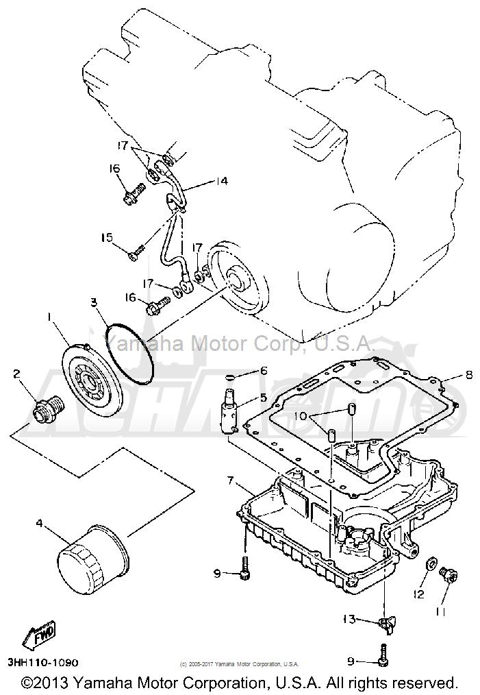 Запчасти для Мотоцикла Yamaha 1991 FZR600RB Раздел: OIL FILTER | масляный фильтр