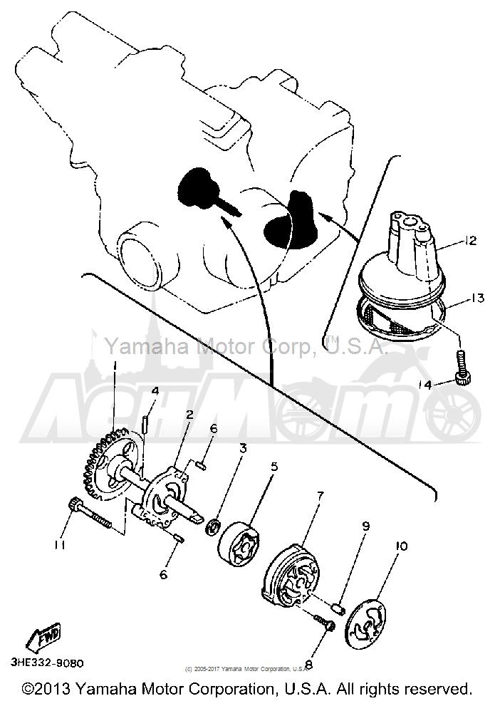 Запчасти для Мотоцикла Yamaha 1991 FZR600RB Раздел: OIL PUMP | маслянный насос