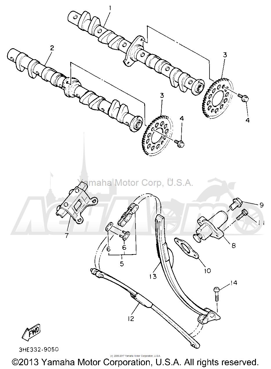 Запчасти для Мотоцикла Yamaha 1991 FZR600RBC Раздел: CAMSHAFT CHAIN | распредвал цепь