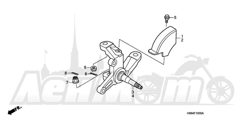 Запчасти для Квадроцикла Honda 2007 TRX250EX Раздел: KNUCKLE | кулак