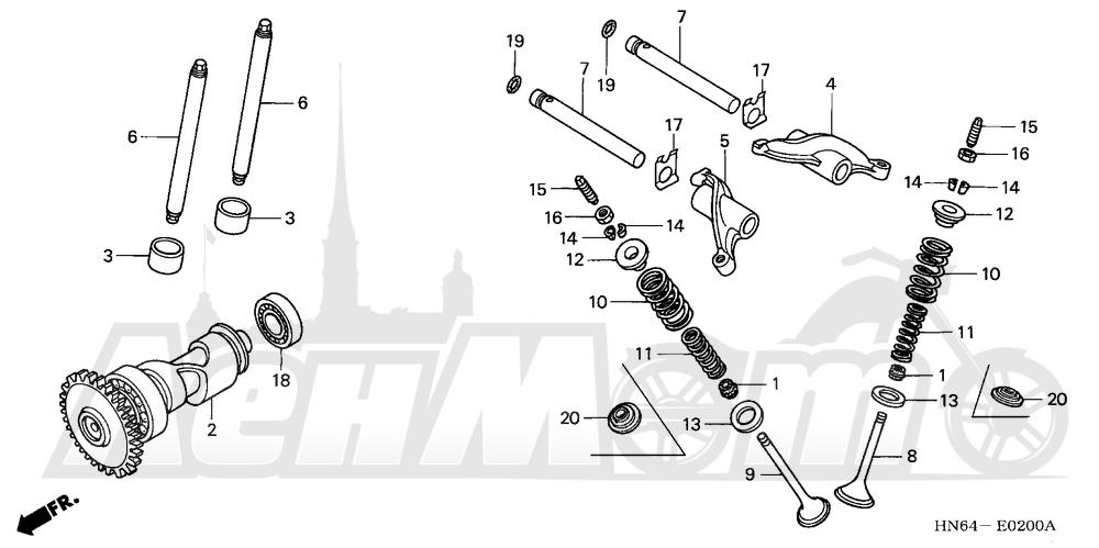 Запчасти для Квадроцикла Honda 2007 TRX250EX Раздел: CAMSHAFT | распредвал