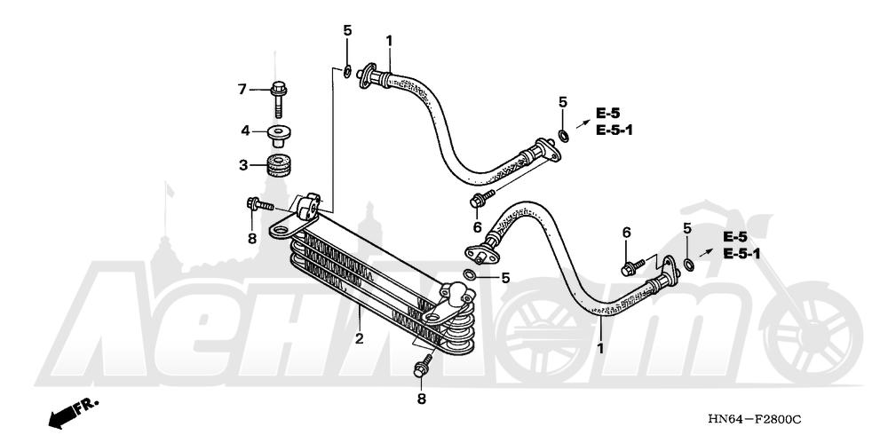 Запчасти для Квадроцикла Honda 2007 TRX250EX Раздел: OIL COOLER | маслянный радиатор