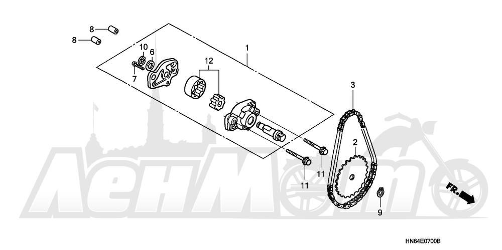 Запчасти для Квадроцикла Honda 2007 TRX250EX Раздел: OIL PUMP | маслянный насос