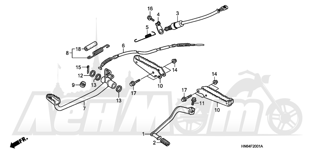 Запчасти для Квадроцикла Honda 2007 TRX250EX Раздел: PEDAL AND STEP (
