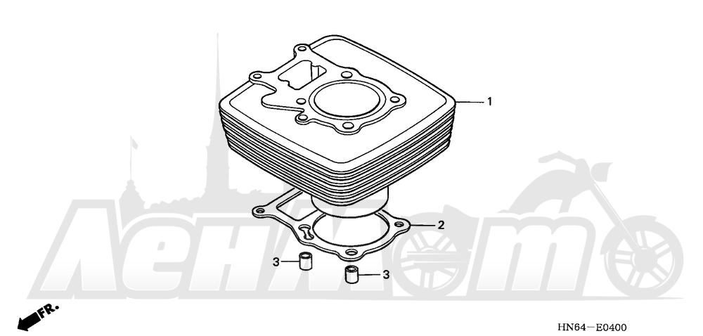 Запчасти для Квадроцикла Honda 2007 TRX250EX Раздел: CYLINDER   цилиндр