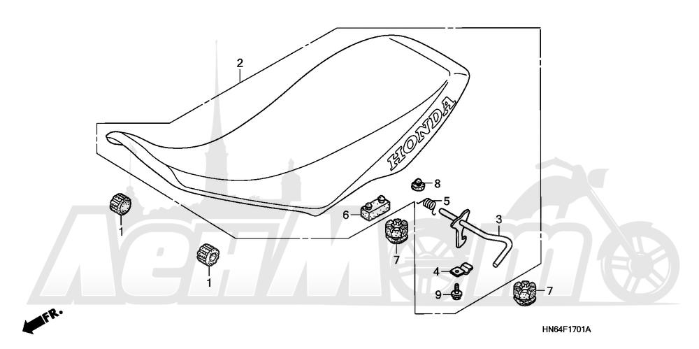 Запчасти для Квадроцикла Honda 2007 TRX250EX Раздел: SEAT (