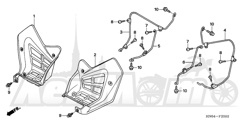 Запчасти для Квадроцикла Honda 2007 TRX250EX Раздел: SPLASH GUARD (