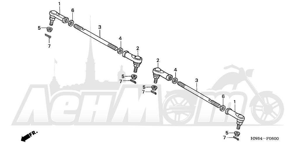 Запчасти для Квадроцикла Honda 2007 TRX250EX Раздел: TIE ROD | рулевая тяга