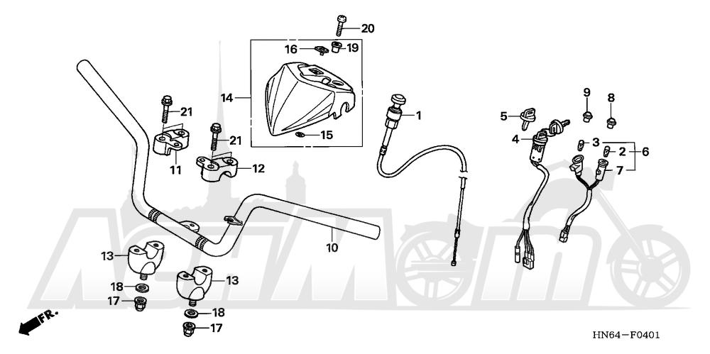 Запчасти для Квадроцикла Honda 2007 TRX250EX Раздел: HANDLEBAR (