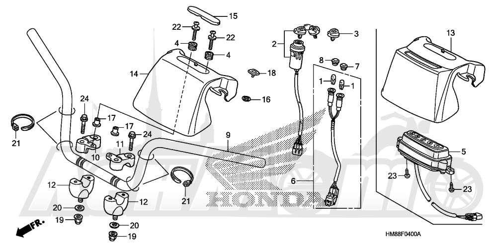 Запчасти для Квадроцикла Honda 2007 TRX250TE Раздел: HANDLEBAR | руль