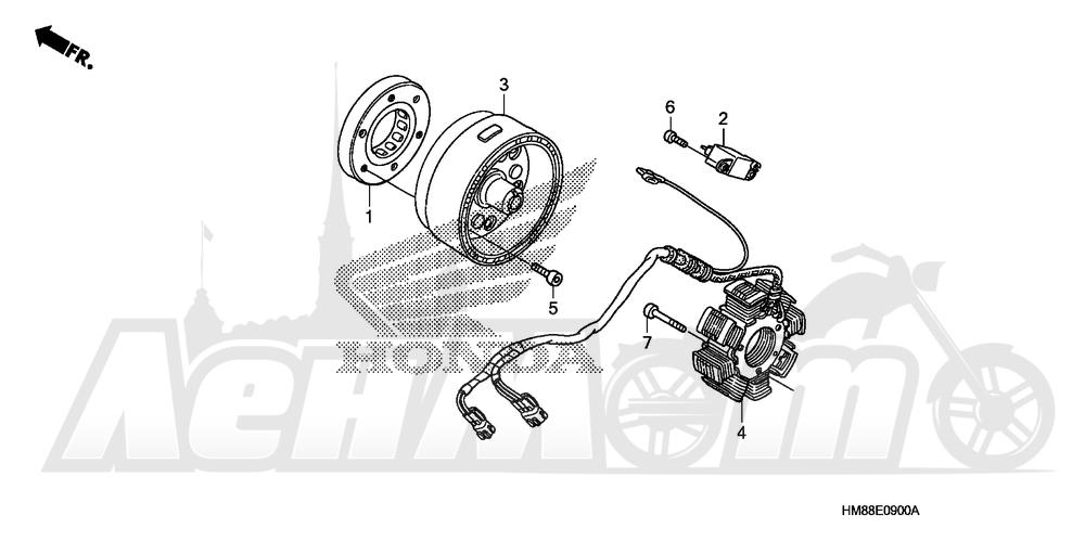 Запчасти для Квадроцикла Honda 2007 TRX250TE Раздел: ALTERNATOR   генератор