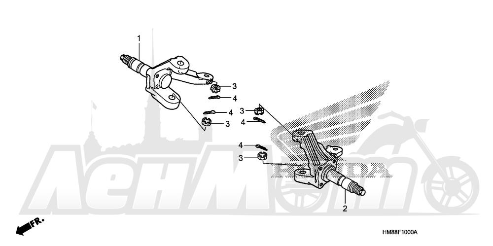 Запчасти для Квадроцикла Honda 2007 TRX250TE Раздел: KNUCKLE | кулак