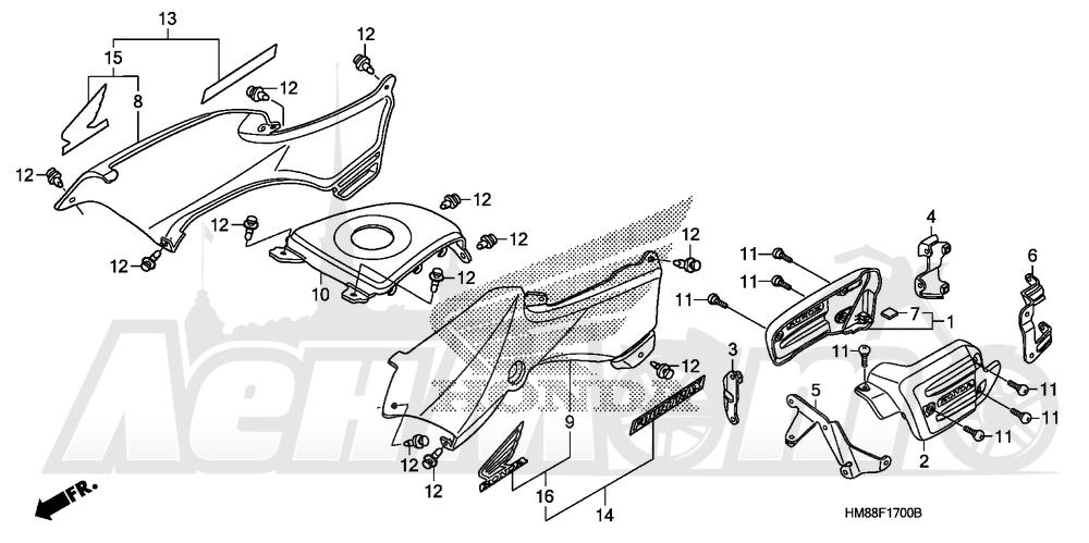 Запчасти для Квадроцикла Honda 2007 TRX250TE Раздел: BODY COVER | корпус крышка
