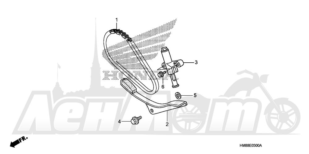 Запчасти для Квадроцикла Honda 2007 TRX250TE Раздел: CAM CHAIN AND TENSIONER | цепь грм и натяжитель