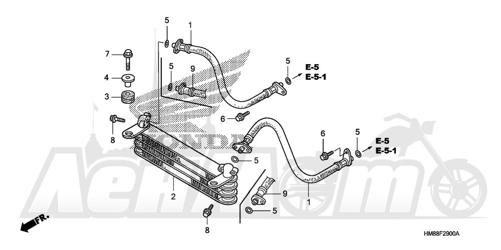 Запчасти для Квадроцикла Honda 2007 TRX250TE Раздел: OIL COOLER   маслянный радиатор
