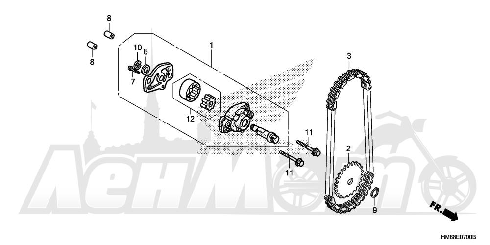 Запчасти для Квадроцикла Honda 2007 TRX250TE Раздел: OIL PUMP | маслянный насос
