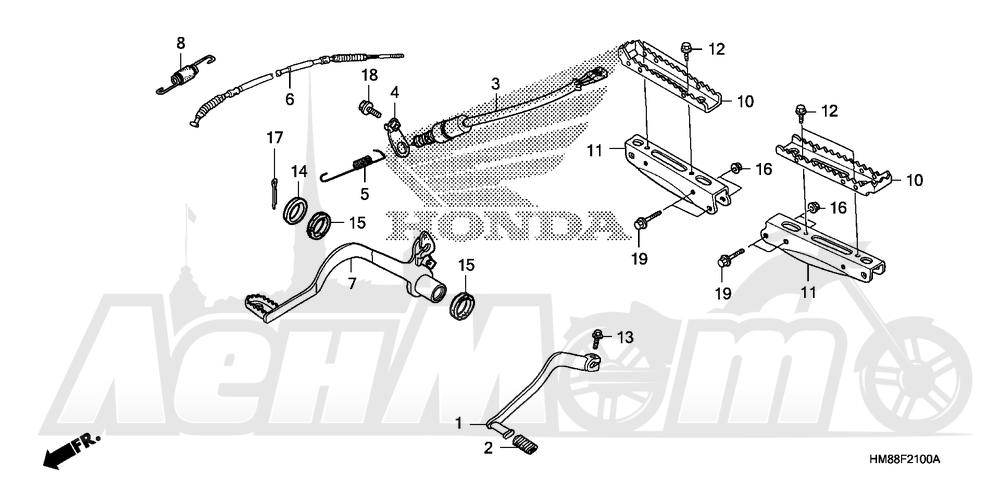 Запчасти для Квадроцикла Honda 2007 TRX250TE Раздел: PEDAL AND STEP | педаль и подножка