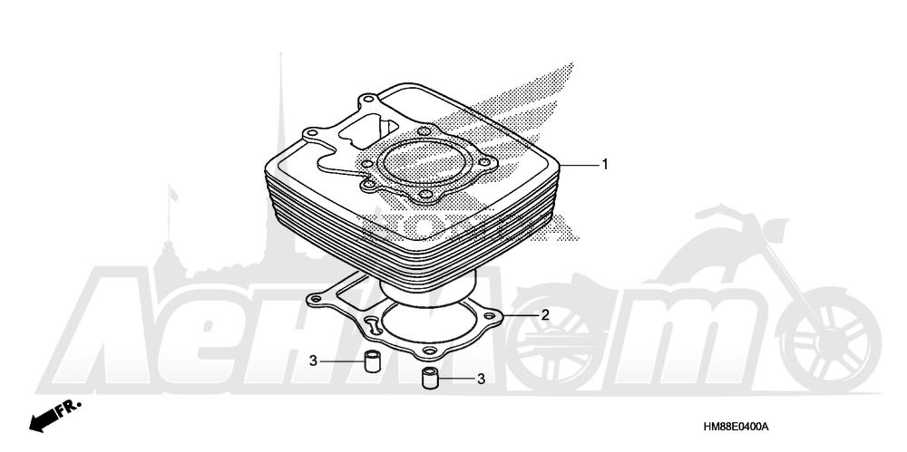 Запчасти для Квадроцикла Honda 2007 TRX250TE Раздел: CYLINDER | цилиндр